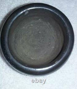 Vintage Santa Clara Pueblo Pottery Bowl Signed Native American Pueblo Indian