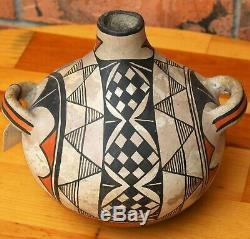 Vintage Southwest Native American Acoma Pueblo Pottery unsigned Jug circa 1900s