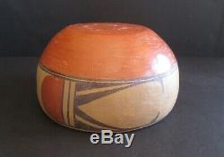 Vintage Traditional Handmade Native American Zia Pueblo Pottery Bowl 7