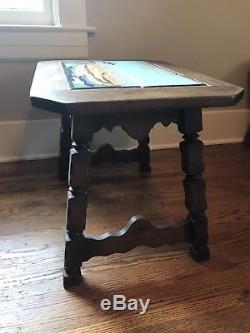 Vintage california Taylor tile table Native American Horseman Southwest