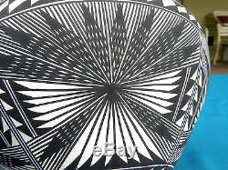 Vntg Large Acoma Fine Line Pottery VaseSignedEx Condition