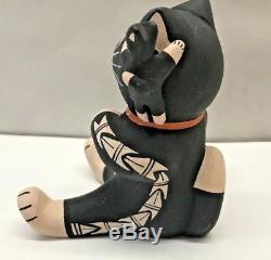 Vtg Herrera Storyteller Pottery Cat Kitten COCHITI Figure Native American Indian