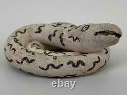 Vtg Native American Lucy M. Lewis Acoma NM Pottery Miniature Signed Coiled Snake