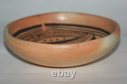 Vtg Pottery Annette Silas Hopi Tewa Large Native American Pottery Bowl, Signed