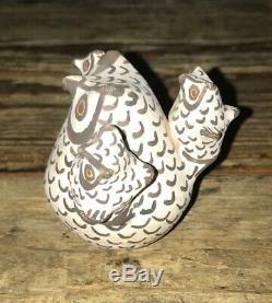 Vtg Signed Joyce L Leno Acoma Pueblo Native American Pottery Storyteller Owl