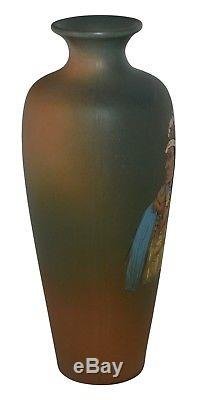 Weller Pottery Dickens Ware Native American Ghost Bull Vase