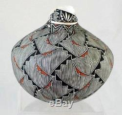 Wonderful Acoma Indian Eggshell Pot Pottery by Shawna Garcia Rustin