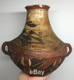 Wonderful Early Acoma Polychrome Pottery Storage Vase Antique Native American