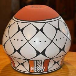 Wonderful Hand Coiled Mary Antonio Garcia Acoma Pueblo Bowl/free Ship#1