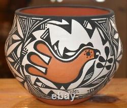 Wonderful Hand Coiled Mary Antonio Garcia Acoma Pueblo Bowl/free Ship#3
