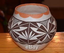 Wonderful Older Polychrome Handcoiled Acoma Pueblo Bowl! Free Shipping