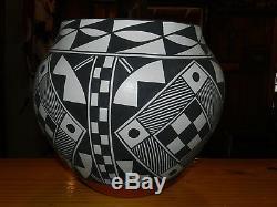 Wonderful XL Large Mary Antonio Garcia Hand Coiled Acoma Pueblo Olla/free Ship