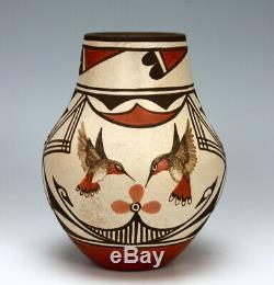 Zia Pueblo Native American Indian Pottery Jar Marcellus & Elizabeth Medina