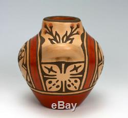 Zia Pueblo Native American Indian Pottery Water Jug Ruby Panana