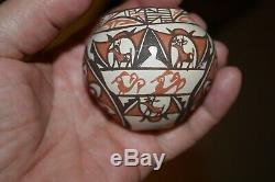 Zuni Miniature Pottery Deer Jar Jennie Laate Native American Signed Pot Olla