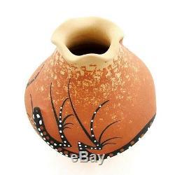 Zuni Native American Vase with Lizard By Deldrick and Lorenda Cellicion