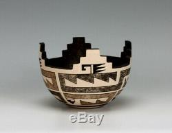 Zuni Pueblo Native American Indian Pottery Cornmeal Bowl #1 Jaycee Nahohai